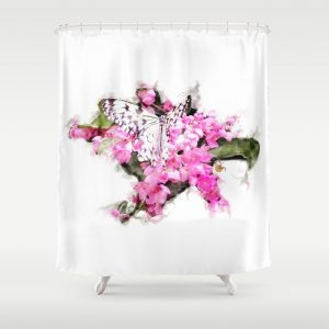 @Tery butterfly-and-pink-lantana-shower-curtains