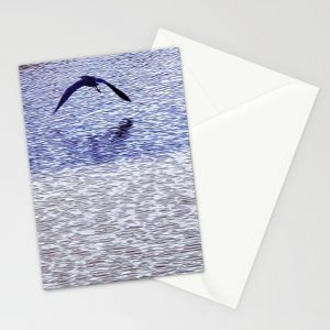 Seagull Over Ocean Tony Collection Cards by Tery-Spataro